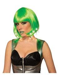 Фото Парик зеленый женский с подсветкой взрослый