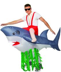 Фото Костюм Верхом на акуле взрослый