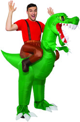 Фото Костюм Верхом на динозавре взрослый
