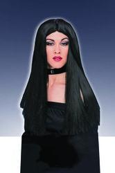 Фото Парик длинный черный без челки Forum