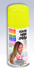 Фото Желтый спрей-краска для волос Forum