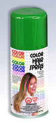 Фото Зеленый спрей-краска для волос Forum