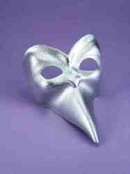 Фото Итальянская маска серебряная Forum