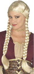 Фото Парик Ренессанс с косами блонд Forum