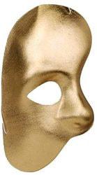 Фото Маска Призрак оперы на 1/2 лица золото Forum