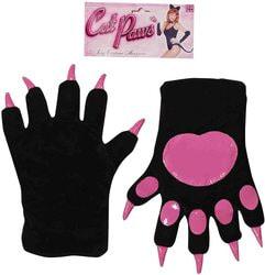 Фото Перчатки Кошка черные с розовым взрослые Forum