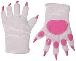 Фото Перчатки Кошка белые с розовым взрослые Forum