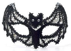 Фото Маска кружевная Летучая мышь черная Forum
