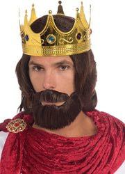 Фото Парик Царь с бородой и усами коричневый Forum