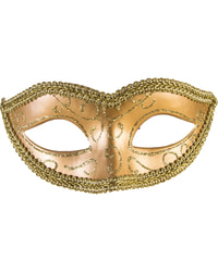 Фото Венецианская маска на резинке золото Forum
