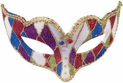 Фото Венецианская маска Коломбино на резинке Forum