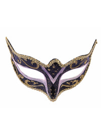 Фото Венецианская маска черно-золотая Forum