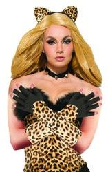Фото Перчатки Леопард с обрезанными пальцами Forum