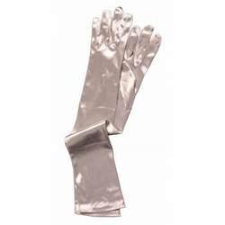 Фото Перчатки серебряные длинные взрослые Forum