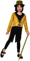 Фото Фрак золотой блестящий детский Forum