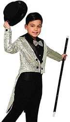 Фото Фрак серебро блестящий детский Forum