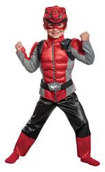 Фото Костюм Красный рейнджер с мускулами для мальчика
