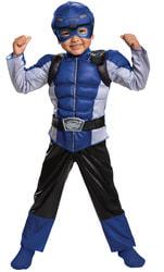 Фото Костюм Синий рейнджер с мускулами для мальчика