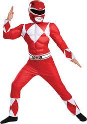 Фото Костюм Красный рейнджер мускулистый для мальчика