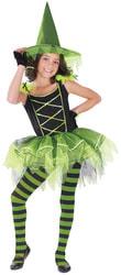 Фото Костюм Ведьма зеленая балерина детский