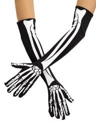 Фото Перчатки Скелет длинные взрослые