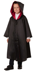 Фото Плащ волшебника Батика черно-красный детский