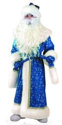 Фото Костюм Батик Дед Мороз плюш синий детский