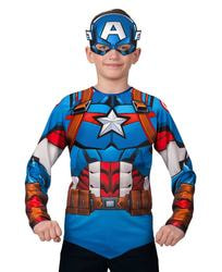 Фото Костюм Батик Капитан Америка с маской детский