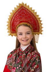 Фото Кокошник Сказочный узор Батик детский