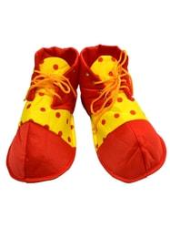 Фото Ботинки клоуна в горох детские