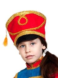 Фото Кивер гусара красный детский