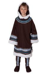 Фото Костюм Северный народ для мальчика коричневый