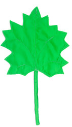 Фото Осенний листок кленовый зеленый