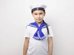 Фото Воротник моряка детский