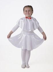 Фото Юбка-солнце белая плясовая детская