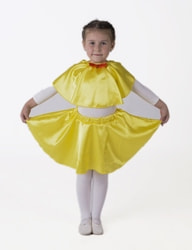 Фото Юбка-солнце желтая плясовая детская
