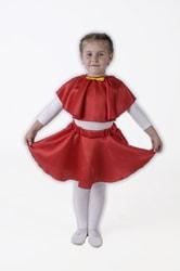 Фото Юбка-солнце красная плясовая детская