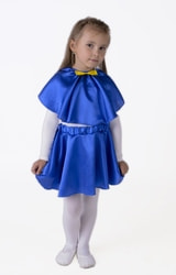 Фото Юбка-солнце синяя плясовая детская