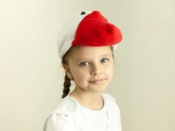 Фото Шапка Гусь белая детская