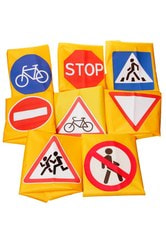 Фото Жилет дорожный знак пешеходный переход
