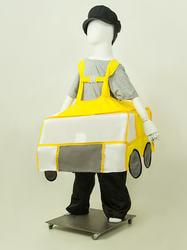 Фото Костюм каркасная машина желтая детский
