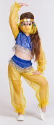 Фото Костюм Восточная танцовщица синий детский