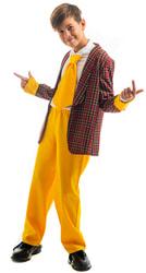 Фото Костюм стиляга с желтыми штанами бордовый детский
