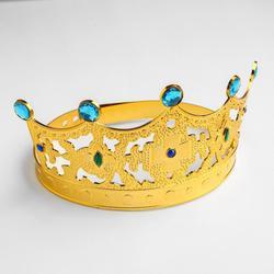 Фото Корона Царица золотая с камнями детская