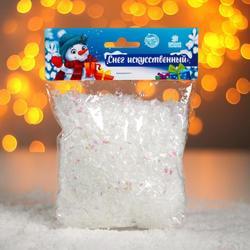 Фото Снег для декора на Новый год (хлопья, 60 г)