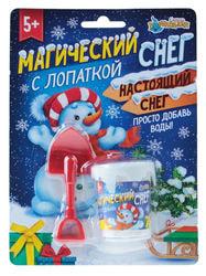 Фото Набор для творчества Растущий снег Снеговик с лопаткой