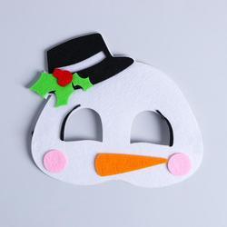 Фото Карнавальная маска Снеговик из фетра