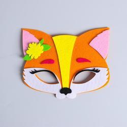 Фото Карнавальная маска Лисичка из фетра
