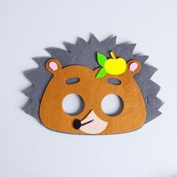 Фото Карнавальная маска Ежик из фетра