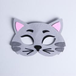 Фото Карнавальная маска Котик из фетра